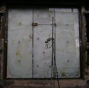 Противопожарные маятниковые стеклянные двери